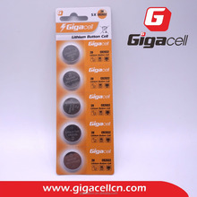 Good price! Good quality! CR2032, 5PCS/blister Pack, Lithium Button Cell