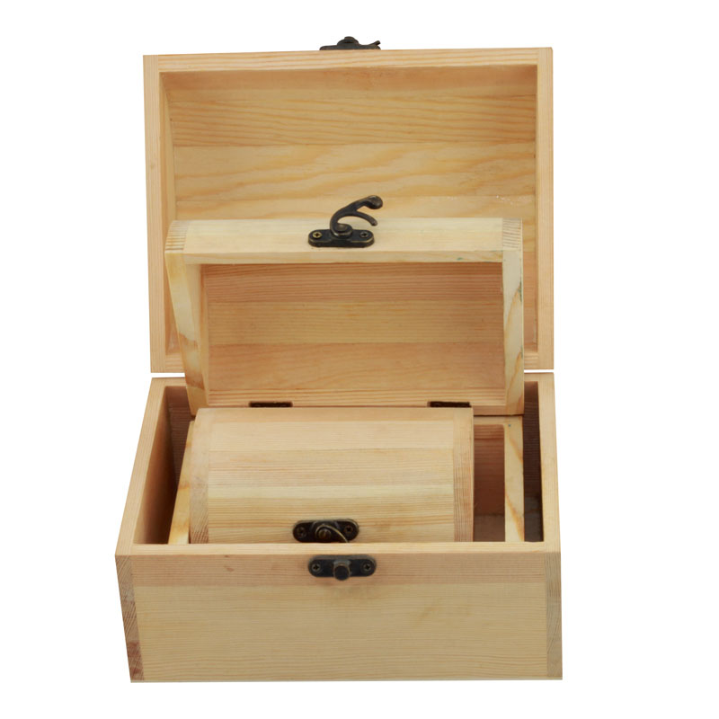 2016 environmental and recyclable wooden gift packing box with three different sizes