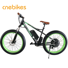 26x4 fat 48v 1000w electric fat tire bike with battery