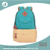 Wholesales top quality brand names canvas school bags backpack