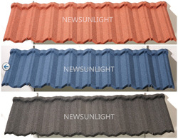 Korea style building material color stone coated steel roof tiles