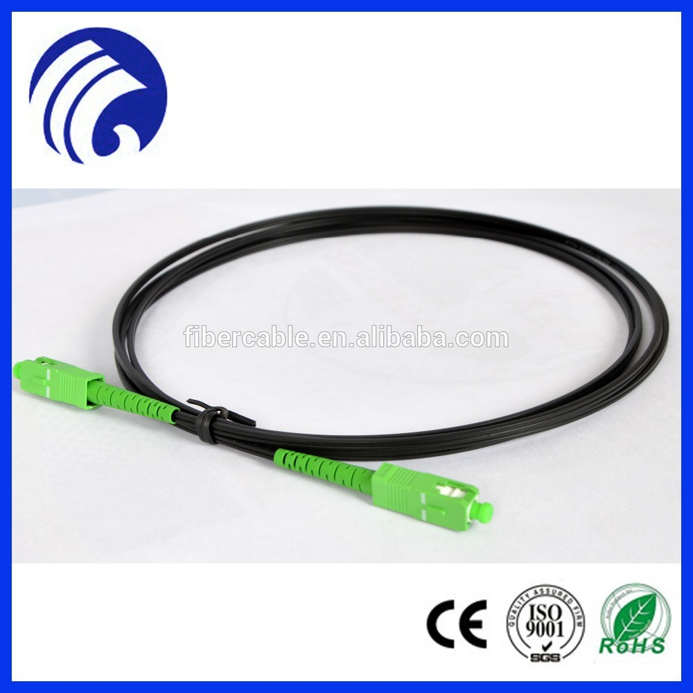 Supply ST/FC/SC/LC/MTRJ/E2000 2.0mm GJXFH/GJXH drop cable patchcord optical fiber