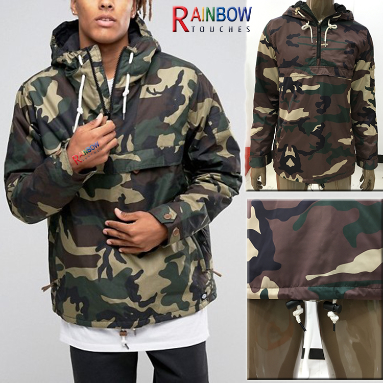 Wholesale Custom Lightweight Camo Windbreaker Jackets For Men