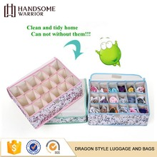 Multi-functional soft plaid undergarment storage boxes