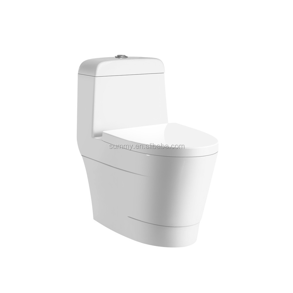 one piece siphonic bus toilet