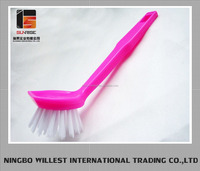 Red plastic cleaning kitchen bristle small plastic dish washing brush