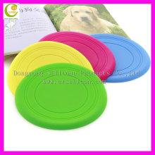 Cool dog frisbee with hole ball toy silicone frisbee