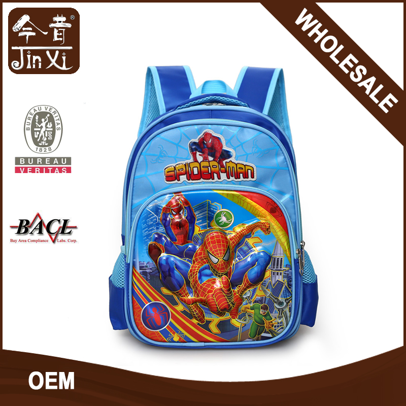 Wholesale TV cartoon character cute kids 3d school bag