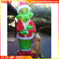outdoor inflatable christmas grinch for sale, gemmy inflatables christmas replica with led lights for sale