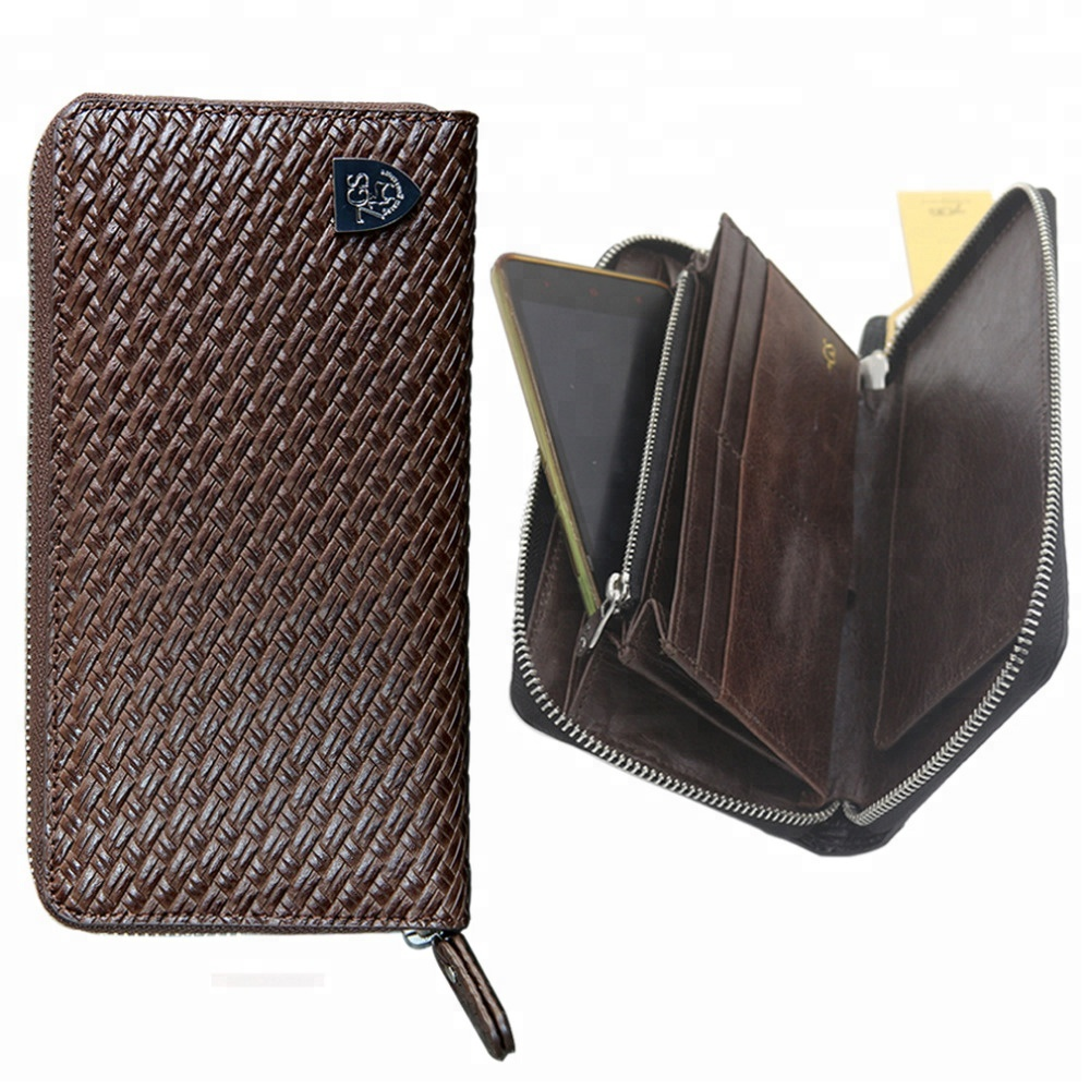 Top Leather Unisex Long Wallet Phone Case Imperial <strong>Men's</strong> Wallet 2017
