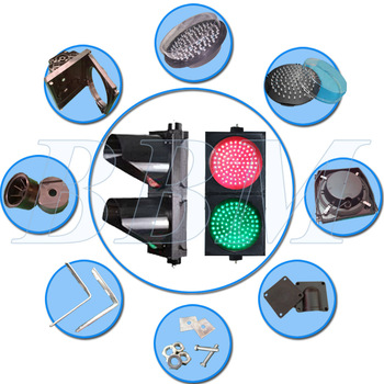 Portable led traffic light with clear lens
