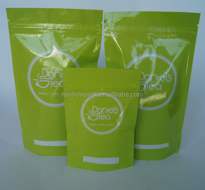 Matte white Mylar airtight ziplock bags/plastic foil doy pack packaging pouch with zipper
