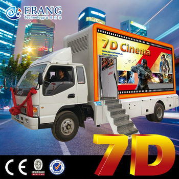 Truck Mobile Simulator 7d Hydraulic System Cinema for Profitable Business