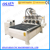 OSAIN 4 Axis Rotary CNC Router Machine , Stone / Wood Engraving Machine