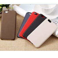 Imitation Original PU Leather Case Cover Skind for Apple iPhone 6 Colored case