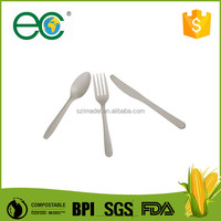 biodegradable disposable plastic corn based cutlery