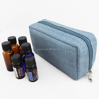 Hemp essential oils zip pouch for 8 vials - various colors LOW MOQ