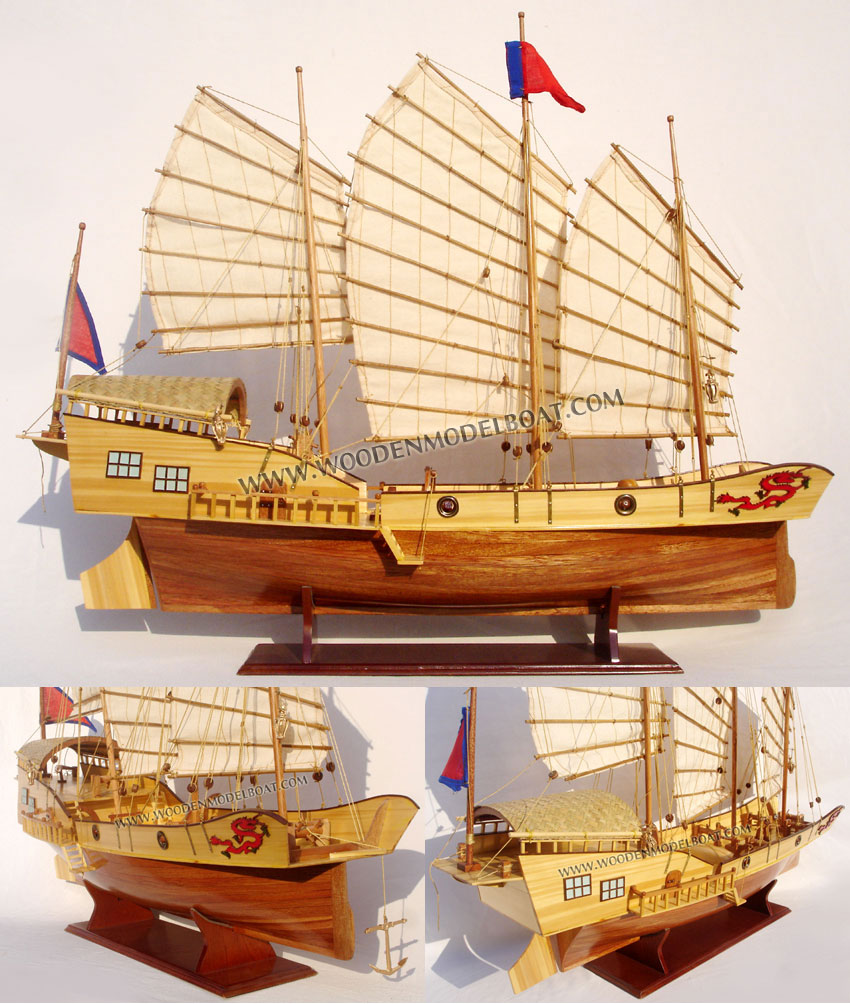 Red Dragon Wooden Model Ships - Wooden Craft