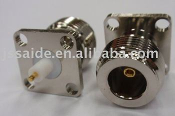 <691>N Jack solder connector with 4 Hole panel Mount