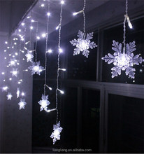 5m width LED curtain light with snow