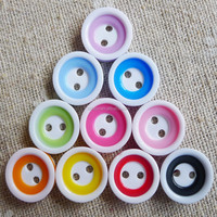 Xida 2016 Hot sell new 20L assorted color fancy round plastic resin shirt buttons