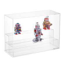 wholesale custom store product robot double sided acrylic display case