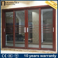 Decorative double glass aluminum profile exterior balcony sliding glass door