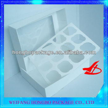 white cupcake box with windows