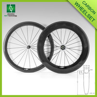 700C Carbon road wheels 88mm depth 23mm width Clincher Glossy/Matte/ printable Carbon Road Bike Wheelset