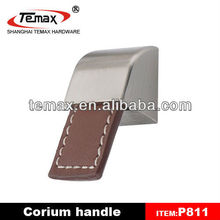 P811 Furniture Cabinet Leather Handles For Furniture