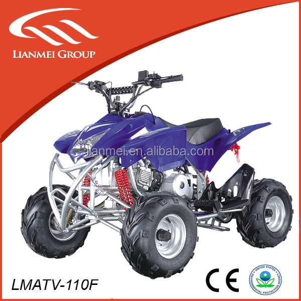 2016 new 110cc 4wheels chain driver quad 4 stroke ATV with CE