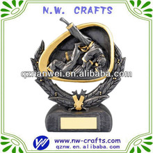 Hot selling resin judo action sport trophy figure
