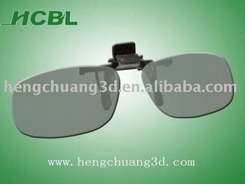 Polarized Clip on tray 3D Glasses