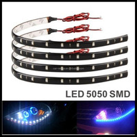 30cm 7 Colors 18 LED Daytime Running lights DC 12V 5050 SMD Waterproof Auto Car DRL COB Driving Fog lamp Flexible LED Strip