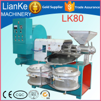 LK80 castor oil extraction machine/high output moringa seed cooking oil making machine/small rapeseed walnut oil mill