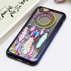 Liquid phone case for iPhone 8 plus, Mirror Electroplate Mobile Phone Accessories Liquid Glitter Star Case for iPhone X Case