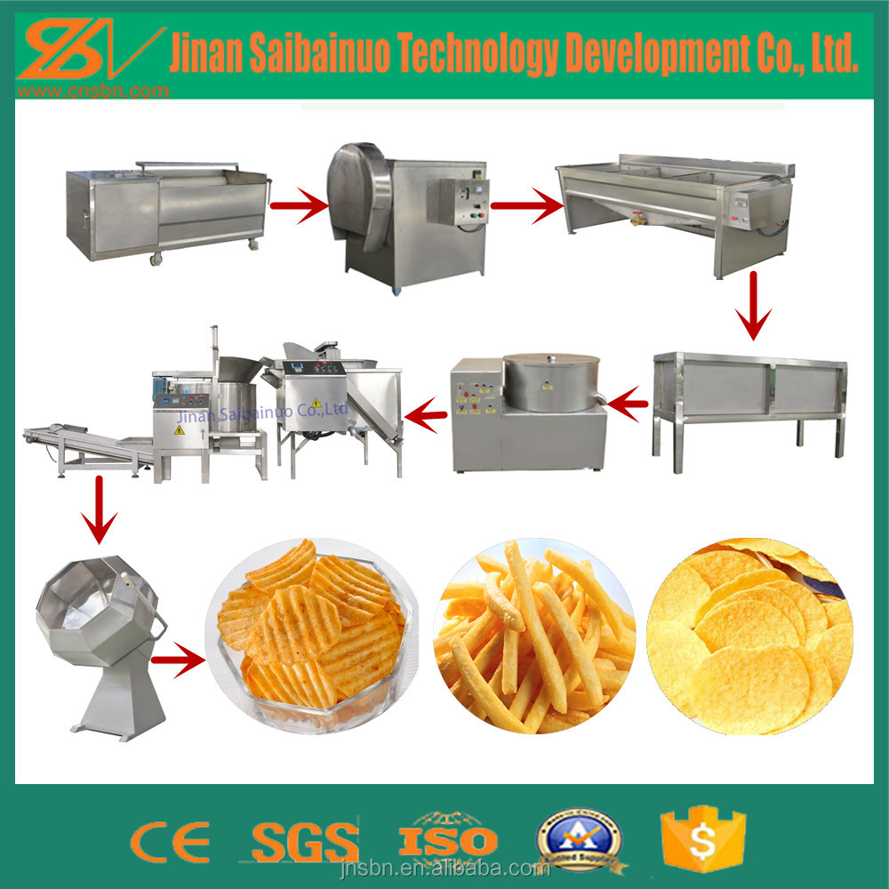 semiautomatic fresh fried food potato chips making machine