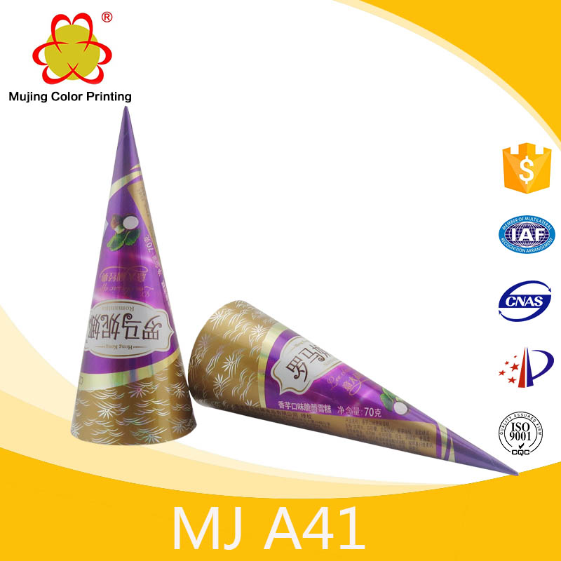 Printed Ice Cream Paper Cone For Food