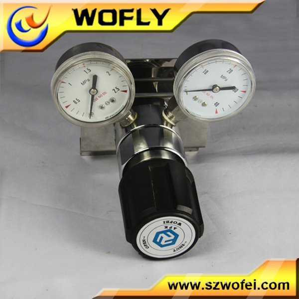 single-stage gas valve safety regulator , lpg cylinder regulator with meters