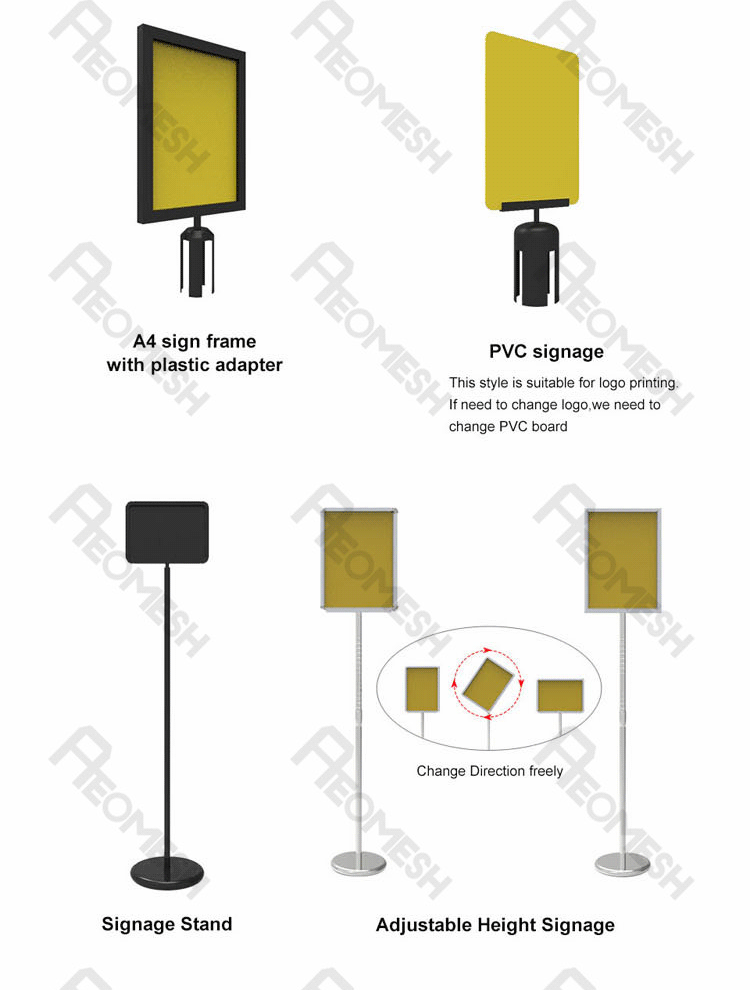 AEOMESH Advertising Display Banner Stanchion Barrier