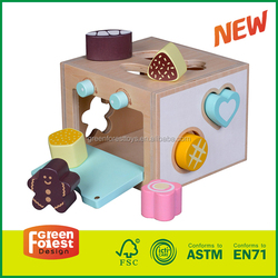 Shape Sorter Cognitive and Matching Wooden Toys