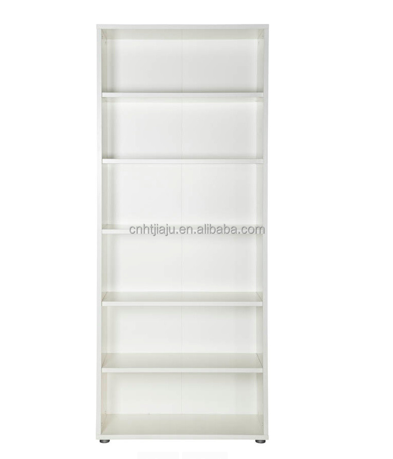 Hot Sale Modern White Wooden Bookcase/Living Room Bookcase