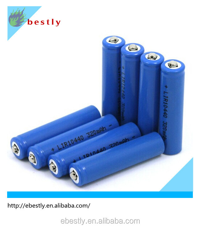 AAA 3.7V 320mah Lithium Battery 10440 rechargeable battery small rechargeable battery