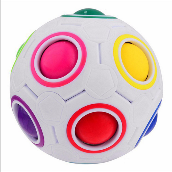 OCDAY Rainbow Football Creative Ball Children Kids Spherical Magic Cube Toy Learning And Education Puzzle Toys New Sale
