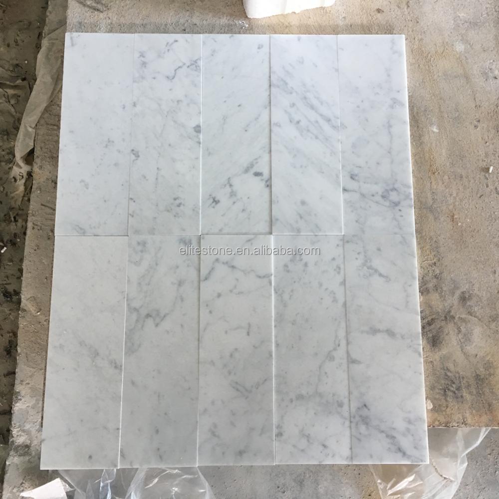 Bianco Carrara Calacatta White Marble Floor Tile For Bathroom Buy