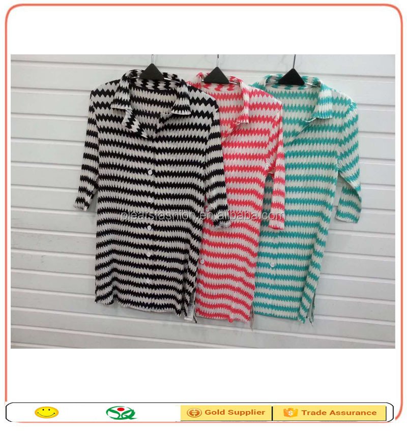 New fashion office women stripe military style drap women shirt