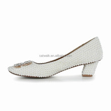2015 pearl shoes white high heels wedding shoes fall spring women pumps
