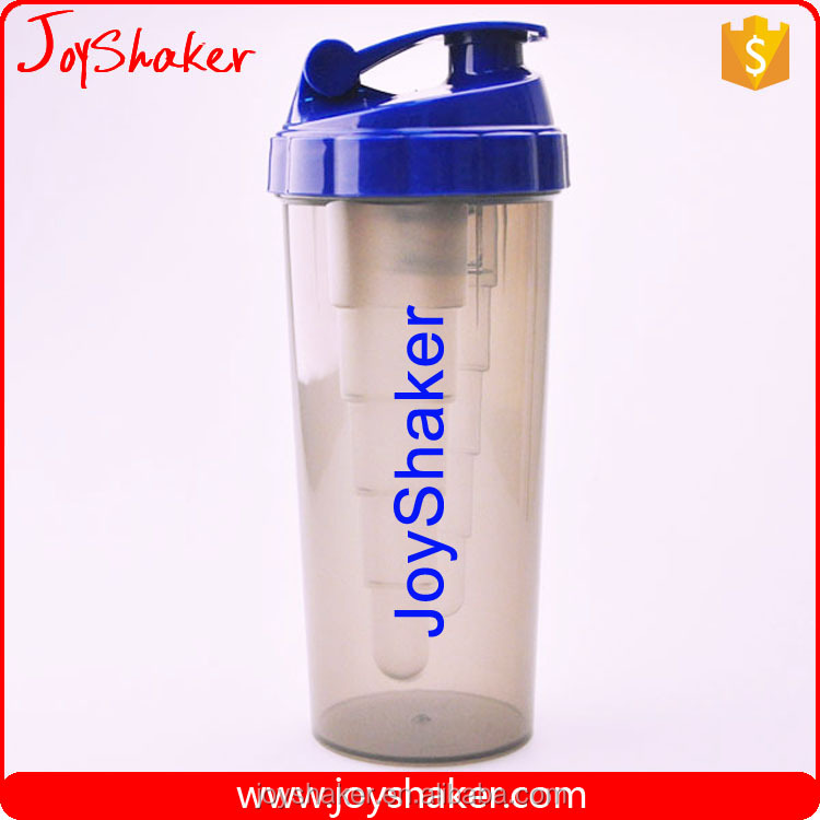 Custom Logo Shaker JoyShaker Bottle 800ml BPA Free, Gym Shaker Bottle With Steel Wire Wisk