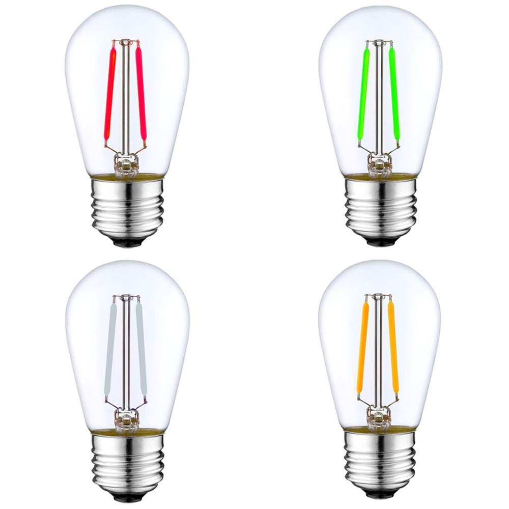 2W 4W 6W warm white 2700K outdoor string light vintage edison S14 Filament LED Bulb