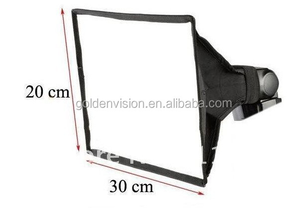 New Universal Foldable Flash Diffuser 20x30cm soft Box Photo Studio Accessories for Most External Flash